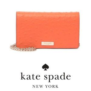 kate spade new york Orange crossbody wallet NWT
